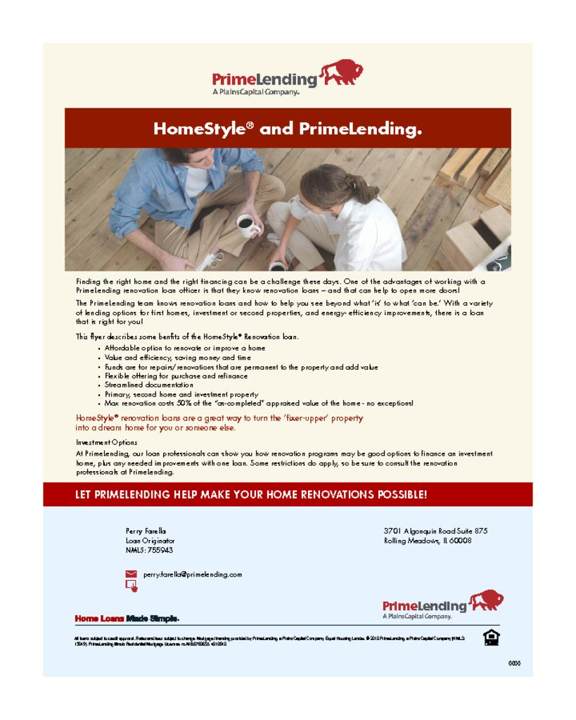thumbnail of HomeStyle and PrimeLending Flyer Consumer