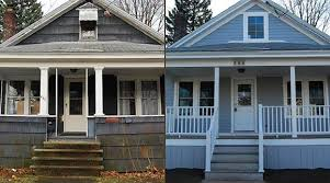 house exterior before and after