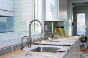 kitchen sink during renovation